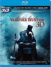 Abraham Lincoln Vampire Hunter 3D BLU RAY 3D/BLU RAY/DVD/DIGITAL NEW! TIM BURTON