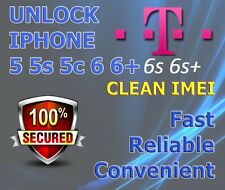 T-mobile Tmobile USA iPhone 5 5s 5c 6 6+ 6s 6s+  FACTORY UNLOCK SERVICE