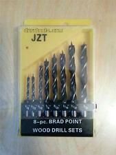 Brad Point Drill Bit Set 1/8 5/32 3/16 1/4 9/32 5/16 11/32 & 3/8 inch 8pc w/case