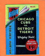 1935 Chicago Cubs World Series Program vs Detroit Tigers