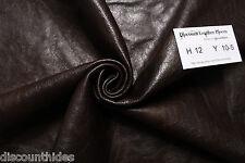 Med leather hide: Dark Mocha. Sm grain, med sheen. Appx 12 ft. H12Y10-5
