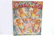 Original 1945 Cradle Tots Paper Doll Clothes, Merrill Book Uncut