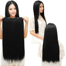 Magical 5 CLIPS Straight BLACK Clip On Voluminising Hair extensions half wig