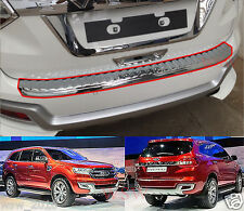 CHROME REAR DOOR TRUNK SILL SCUFF PLATE FOR FORD NEW EVEREST SUV 15 2015 2016 16