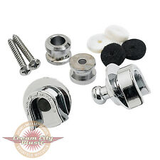 Brand New Fender Strap Locks Set in Chrome for Strat Tele P Bass J Bass Guitar