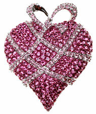 SWAROVSKI  Wrapped in Love 2004 Annual Edition Heart Brooch ~ RETIRED 1513856