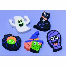 Party Halloween Loot Bags 12 Assorted Erasers Ghost Spider Cat Decoration 394247