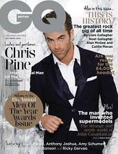 GQ Magazine Chris Pine Ricky Gervais Anthony Johnson Amy Schumer Bella Hadid NEW