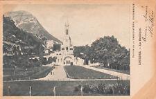 LOURDES la basilique éd chocolaterie d'Aiguebelle timbrée 1904