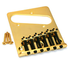 Gold 6-saddle Bridge for Import Fender/Squier Telecaster/Tele® TB-5034-002