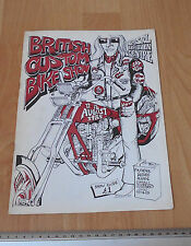 1985 3rd British Custom Bike Show Program Bristol Exhibition Centre