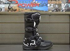 Fox Racing Youth Black White Comp 3 Dirt Bike Boots Motocross MX 2017 SIZE 7
