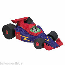 ROSSO & BLU AUTO DA CORSA Bash PINATA Children's Party Game Decorazione