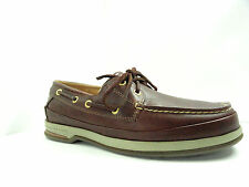 Men's Sperry Top-Sider Gold Cup 2 Eye Cognac Leather Casual Boat Shoe Size 7