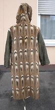 gut erhaltenes Pelz Innenfutter für einen Mantel mit Kapuze  Gr 42 48