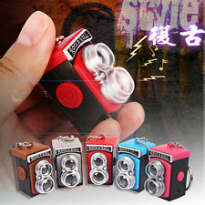 Retro Camera Light Up LED Torch With sound Keyrings KeyChain TOYS USYS88