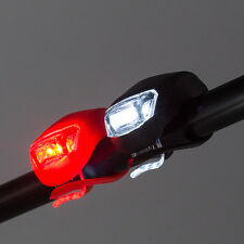 2pcs Bike Bicycle Front Rear Wheel 2 LEDs Flash Light Reflector Random Color