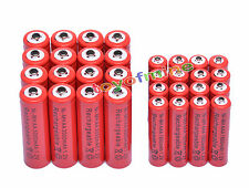 16 AA 3000mAh + 16 AAA 1800mAh 1.2V NI-MH Rechargeable Battery 2A 3A Red Cell