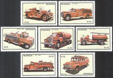 Nicaragua 1983 fire engines/véhicules d'urgence/sauvetage/transport/auto 7v n11230