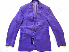 Ralph Lauren Purple Label Italy Lilac Purple Linen Sport Coat Jacket SLIM 46 R