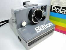 POLAROID SX-70 THE BUTTON CAMERA INSTANT FILM VINTAGE WITH BOX AND MANUAL WORKS!