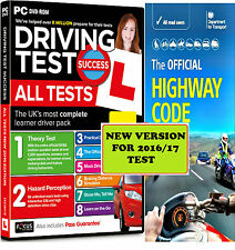 2016/17 Driving Theory Test & Hazard CD Rom DVD Highway Code Book New atpHw