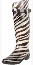 Ralph Lauren Rossalyn Black/White Zebra Print Rain boots 11