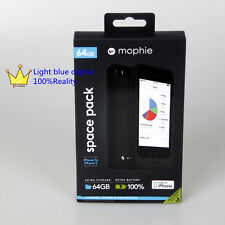 Mophie space pack 1700mAH come with 64G memory black  for iphone se/iphone5s/5
