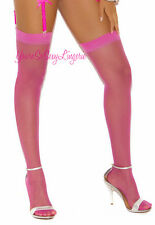 DARK PINK Thigh High Stockings SHEER OVER-THE-KNEE School Girl RAVEWEAR OS