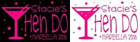 Personalised COCKTAIL HEN DO hen party iron on t-shirt transfers a5 a4