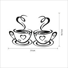Coffee Cups Cafe Tea Wall Stickers Art Vinyl Decal Kitchen Home Pub Decor