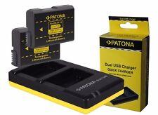 2 x Patona Akku + Dual-Ladegerät für Nikon D5100, D5200, D5300, D5500 - EN-EL14