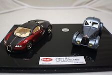 1/43 Looksmart Bugatti Veyron 16.4 and Atlantic 57C 1936 set