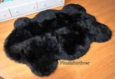 4'x6' Supreme Plush Black Faux Fur Rug Sheepskin Area Rug Nursery Rugs Accents C