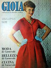 * GIOIA * N°6 /8/FEB/1959 * Settimanale di attualità e cultura