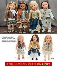 SEWING PATTERN! MAKE DOLL CLOTHES~VICTORIAN STEAMPUNK DRESS FIT AMERICAN GIRL