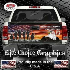 Military Honor Our Veterans Truck Tailgate Wrap Vinyl Graphic Decal Wrap