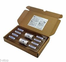 2x AA to C Size Adapter plus 8 Panasonic Eneloop AA 1900mAh Rechargeable Battery