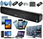 portable Bluetooth MP3 Lautsprecher Soundbar, Akku & Netz, USB MicroSD Radio AUX