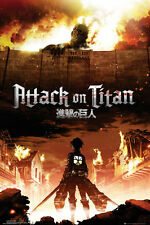 Attack on Titan poster - Keyart - New Manga Gaming Poster