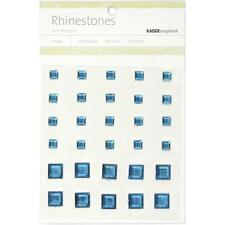 Kaiser Craft Square Blue Self Adhesive Rhinestones 30 per Package SB765