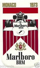 Autocollant Sticker Pub - Malboro Course automobile Monaco 1973