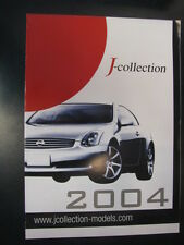 J-Collection modelcars brochure 2004
