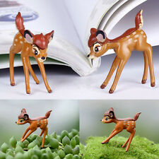 1 Deer Miniature Animal Fairy Garden Terrarium Doll House Figurine Statue Decor