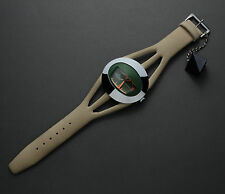 Spaceman Watch Tressa Green with Beige Strap Beautiful Condition