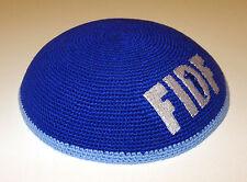 FIDF Friends of Israel Defense Forces Jewish Kippah Knitted Blue Yarmulke