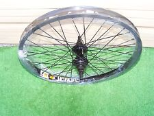 "BICYCLE REAR 20""  WHEEL 9 TOOTH DRIVER 3/8 ""  AXLE  BLACK  DBL NEW"