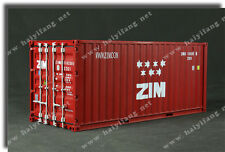 Hard plastic 1:20 scale model shipping containers at one foot or 30cm long