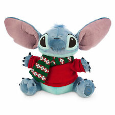 "NEW Disney Store Hawaii Lilo & Stitch Alien 12"" Holiday Christmas Plush Toy Doll"