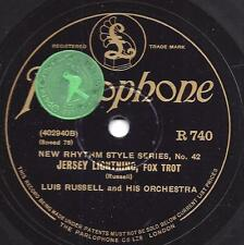 Eddie Lang 's orch.: walkin' the dog + Luis Russell: JERSEY Lightning